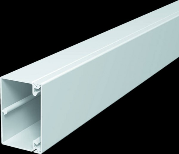 Cable duct 40x60 mm, pure white, PU 24.0 m