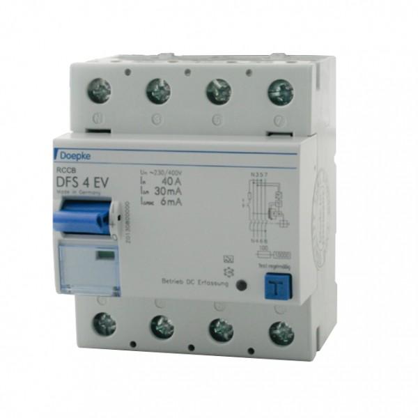 Wallbox RCCB Doepke DFS4 040-4 / 0.03-EV