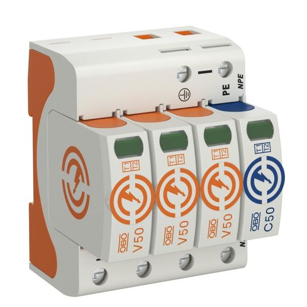 OBO surge arrester AC types I+II, V50