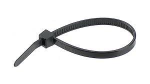 Cable tie 300 x 3.6 mm, black, UV-resistant