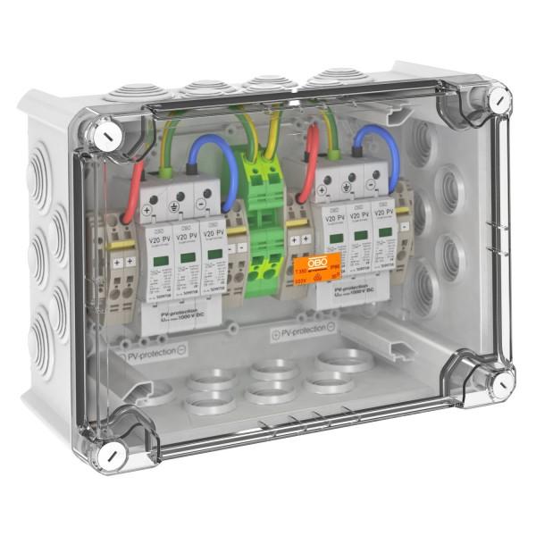 OBO overvoltage box DC type II, 2 MPP, terminals