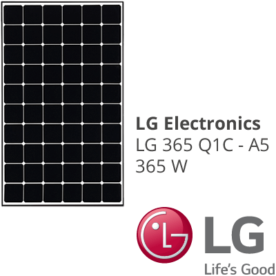 High performance solar panels from LG Electronics