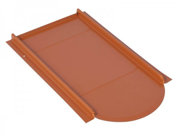 Marzari metal roof plate Vario type for beaver's tail, red
