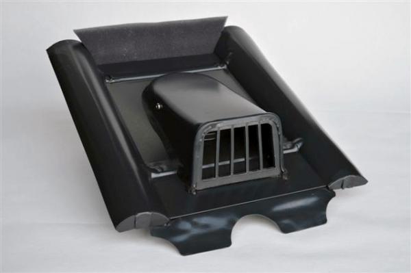 Marzari flat vent, concrete type, black grey