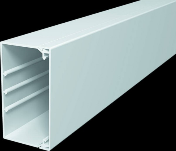 Cable duct 60x110 mm, pure white, PU 16.0 m