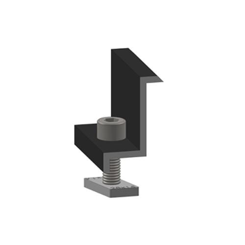 Alumero end clamp black 40 pre-assembled
