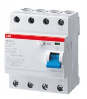 ABB residual current operated circuit breaker 40A, 4-pole, 30mA, type A